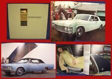 1968 LINCOLN CONTINENTAL Automobile Color Sales Brochure - PERFECT CONDITION!
