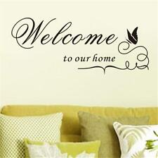 Welcome To Our Home Wall Sticker Quote Vinyl Wall Art Home Decoration -6A