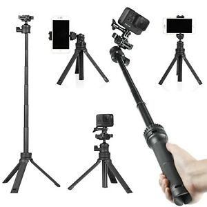 Telescoping Selfie Stick with Tripod Stand for GoPro Hero 9/8/7/6/5/4/3+/3 2018