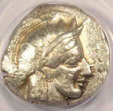 Ancient Athens Athena Owl Tetradrachm Coin 440-404 BC - ANACS AU55 with Test Cut