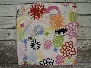 IKEA Renate Blom Pillow Cover Vibrant Splatter Floral Cotton 24 x 25 Bright Pink