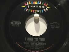 The Skyliners  Jubilee 5520  I Run to You b/w Don't Hurt Me Baby  Northern Soul