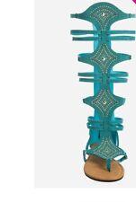 Women Turquoise Gladiator Sandals Size 12W