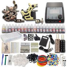 Komplett Starter Tattoomaschine Set 2 Maschine Farben Nadeln Netzgerät Fußpedal