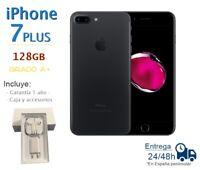 IPHONE 7 Plus 128GB Noir Reconditionné Libre Qualité A + Boîte Et Accessoires