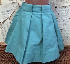 Flora and Henri SEAFOAM GREEN FULL PLEATED SKIRT Toddler 3 Hidden POCKETS Cotton