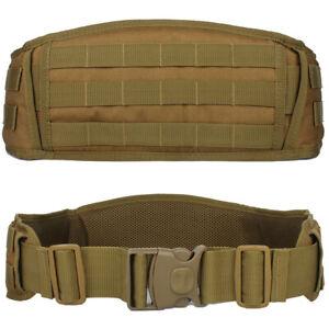 Tactical Hunting Shooting Molle Battle Belt Military Combat Padded Patrol Belt