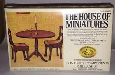 1/12 HEPPLEWHITE ROUND TABLE KIT #40005 THE HOUSE OF MINIATURES FACTORY SEALED