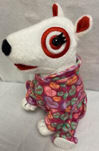"Target Plush Bullseye Dog Valentines Candy hearts outfit Pajamas 7"""