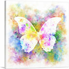 ARTCANVAS White Butterfly Wings Insect Canvas Art Print