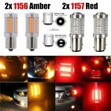 4x 1156 BA15S Amber 1157 BAY15D Red P21W Car LED Parking Turn Signal Lights Bulb