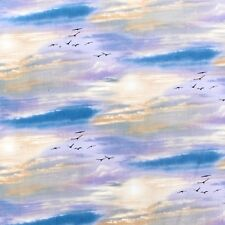 Birds in the Sky Elizabeth Studio 5016 Cotton Fabric FQ Half 1/2 Full Metre