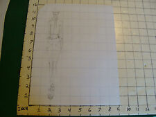 vintage Funky, Hip, Fashion Drawing: W CRAZY SHOES, BOUND WAIST, NECK PIN