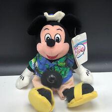 WALT DISNEY STORE PLUSH bean bag stuffed animal tag Mickey Mouse tourist camera