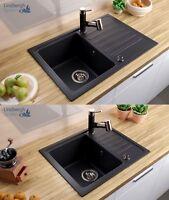 LINDBERGH® Granitspüle inkl. Siphon Einbauspüle Küchenspüle KÜCHE Spüle