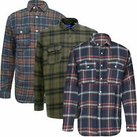 Jack & Jones Men Cotton Soft Brushed Fleece Flannel Check Lumberjack Work Shirt