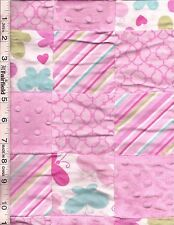 3D Baby Nursery Butterfly Pink Patches by Springs Creative bty