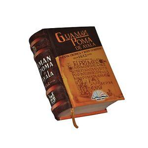 Guaman Poma de Ayala 1612 Colonial Peru Spain Inca Chronicle mini History Book