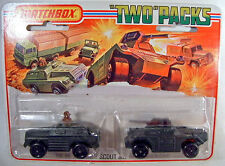 Matchbox Tp-13 Military Scout and Armoured Car olive drab mint on card