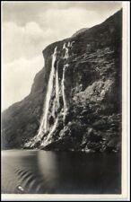 Norge Norwegen ~1926 Waterfall Die 7. Schwestern AK Wasserfall River Falls