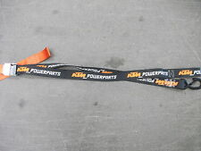 NEW KTM TIE DOWN STRAPS WITH HOOKS FACTORY POWERPARTS TIEDOWNS FOR DIRT BIKES