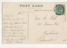 Miss Alice Hall Queens Road Buckland Portsmouth 1904 086a