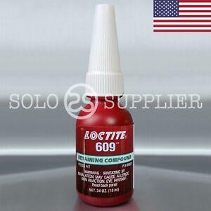 Loctite 609 Green Medium Strength Retaining Compound 10ml - USA