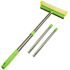 Window Glass House Cleaning Pole Extension Squeegee & Sponge Car Windshield Set!