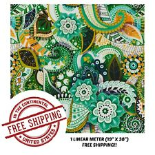 "Hydrographic Film Water Transfer Hydro Dipping Dip Film 19"" x 38"" Green Paisley"