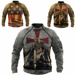 Mens Long Sleeved Retro Outdoor Warm And Breathable Tactical Sweatshirt