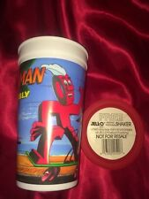 Jello Man & Wobbly Instant Shake Pudding Shaker Bill Cosby Coupon Vintage New 90