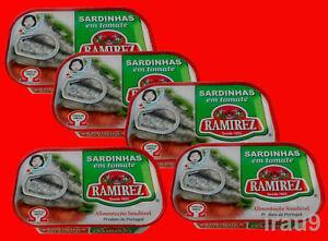 5 Cans Portuguese Sardines Tomato Sauce Omeg3 Calcium 125g each