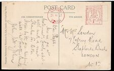 1927 North devon Lynton post card of Watersmeet Lynmouth with 1d red post paid