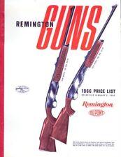 Remington 1966 Firearms Price List Catalog