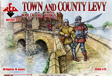 Red Box Models 1/72 WAR OF THE ROSES TOWN & COUNTRY LEVY Figure Set