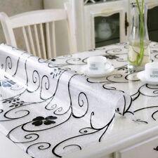 60*120cm Rectangle Soft Glass PVC Dinning Table Cover Protector Desk Mat Desktop