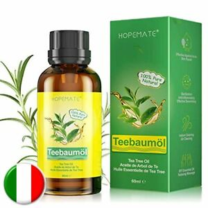 Tea Tree Oil 60ML, Olio Essenziale di Albero del Tè Puro Naturale 100%, per All