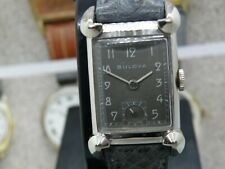 1940`s  BULOVA.....* HIS EXCELLENCY NN *.......WHITE GOLD FILLED.....SERVICED
