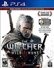 Witcher 3 Wild Hunt (Sony PlayStation 4, 2016) NEW SEALED BONUS MAP STICKERS PS4