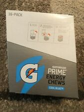 Gatorade Prime Energy Chews - Cool Blue - 16 Count - New/Sealed - 03/2020