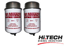 Fuel Manager Replacement Diesel Filter Element 2 Micron 35614 Twin Pack