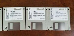 "Microsoft MS-DOS 6 Upgrade  3 1/2"" 3.5"" Floppy Disk  1993  3xDisks"