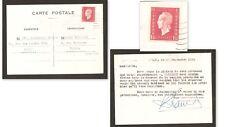 """Carte (LAC) 1945 avec Marianne DULAC N°691 pour """"Maison GAILLARD"""" armurerie, TB"""