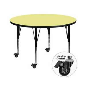 Flash Furniture  Activity Table - XU-A60-RND-YEL-T-P-CAS-GG