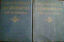 2 Bände Das Deutsche Eisenbahnwesen der Gegenwart Band 1 und 2 von 1911