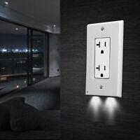 Wall Outlet Cover Night Angel Light Sensor 2 LED Hallway Bedroom Bathroom 5-Pack