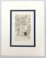 1901 Antico Incisione The Tarpeian Rock Roma Italia Art Joseph Pennell Stampa