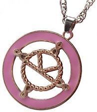 Servicio SECRETO KINGSMAN la medalla Collar Cadena De Plata Chapado en Oro Esmalte Rosa