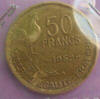 50 francs guiraud 1952 : TTB : pièce de monnaie française N33