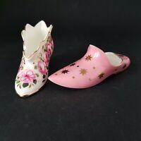 Two Coalport Bone China Miniature Shoes for Compton & Wodehouse 1994 :A7